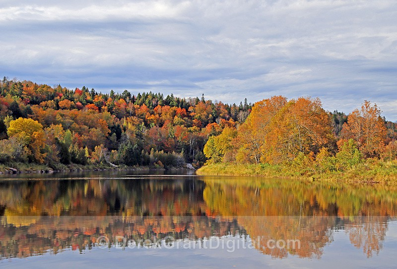 Hammond River Autumn Foliage Fall Colors New Brunswick Canada - New Brunswick Autumn Foliage