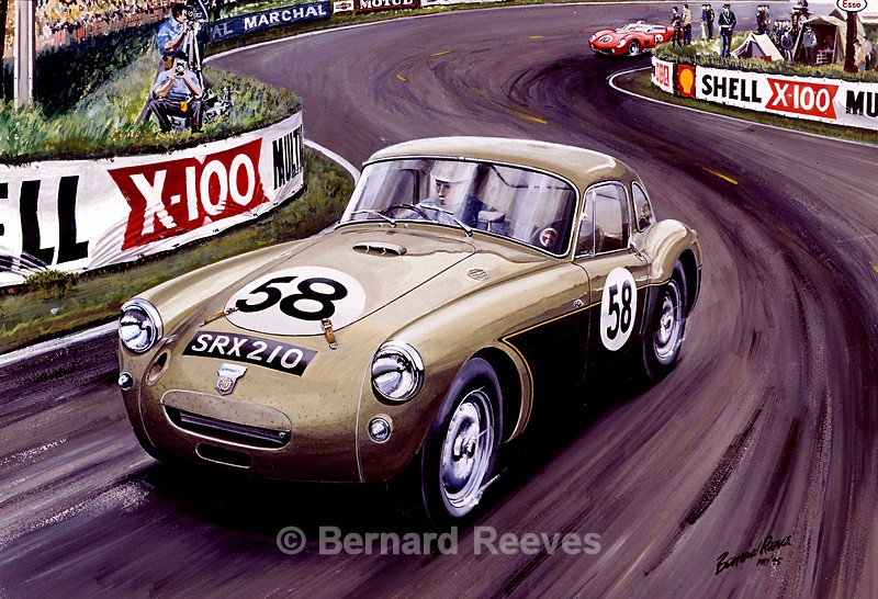 MGA Coupe at Le Mans - Classic cars