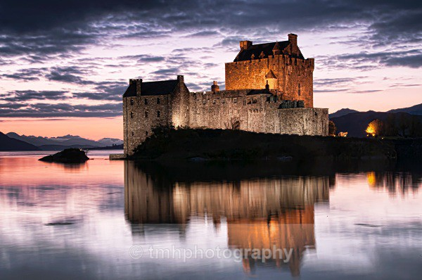 Floodlit Castle. - Low Light Photography