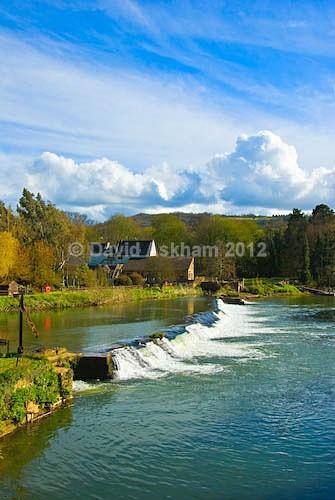 Weir on River Avon - Travel & Landscape