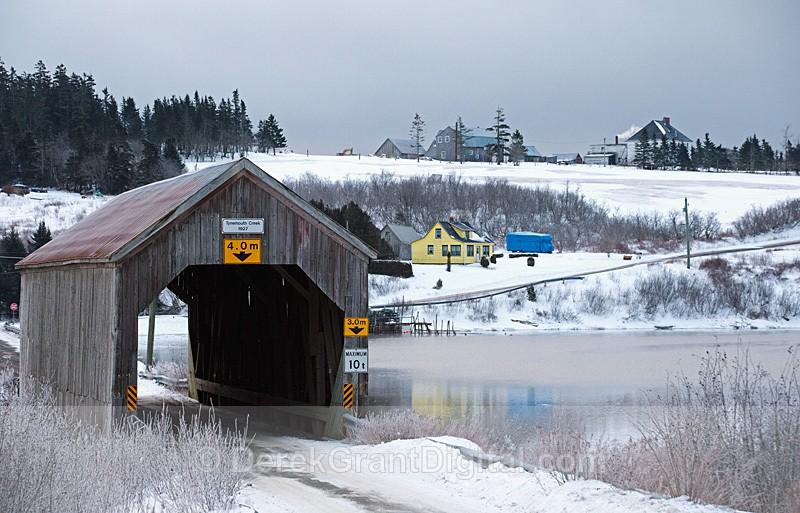 Tynemouth Creek Covered Bridge New Brunswick Canada - Covered Bridges of New Brunswick