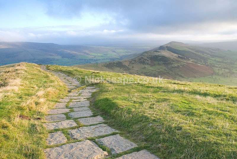 View from Mam Tor looking towards Lose Hill and the Great Ridge of Edale | Peak Gallery