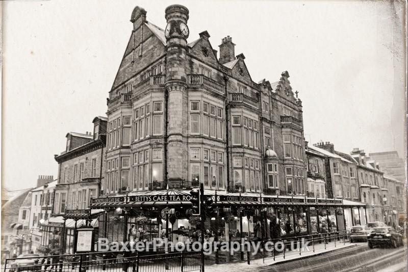 Bettys Tea Rooms on the Corner (Monochrome) - Harrogate Town