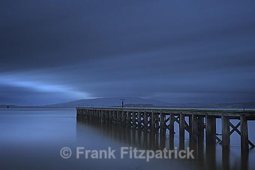 Winters dusk, Port Glasgow, Inverclyde, Scotland. - Scottish scenics