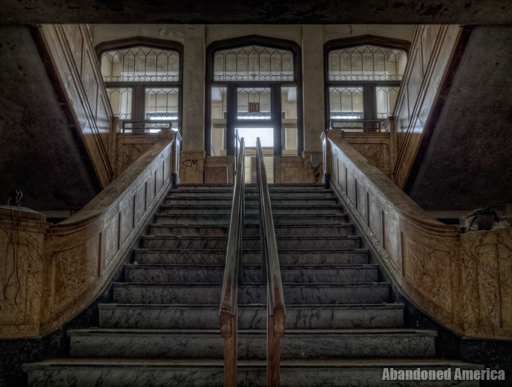 Administration Stairway | Norwich State Hospital