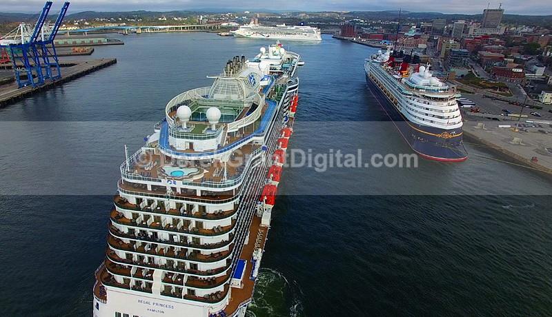 Three Cruise Ship Day  Saint John New Brunswick Canada - Cruise Ships