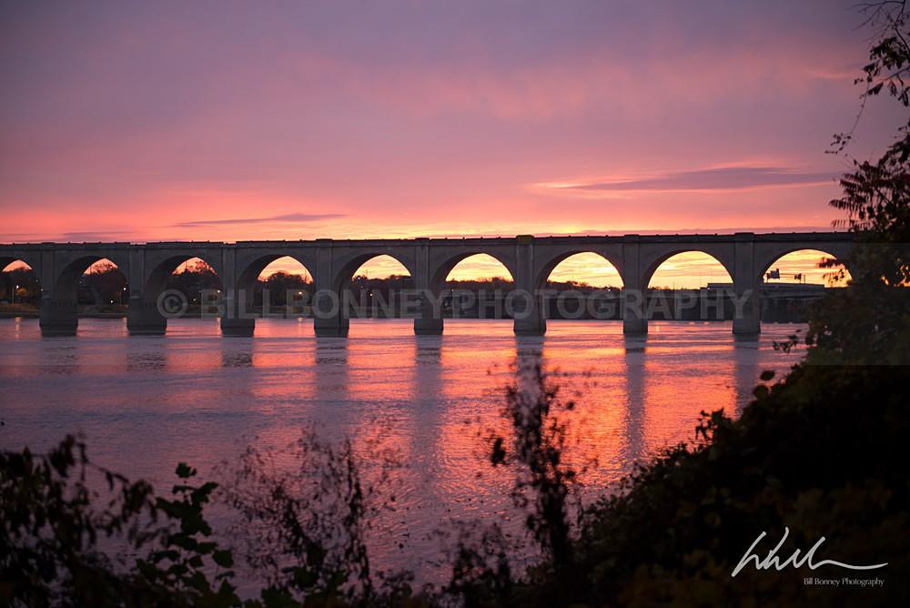 Railroad Bridge before sunrise - Harrisburg Area, Pennsylvania