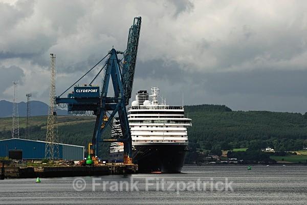 Clydeport and Cruise liner Westerdam - Scottish scenics