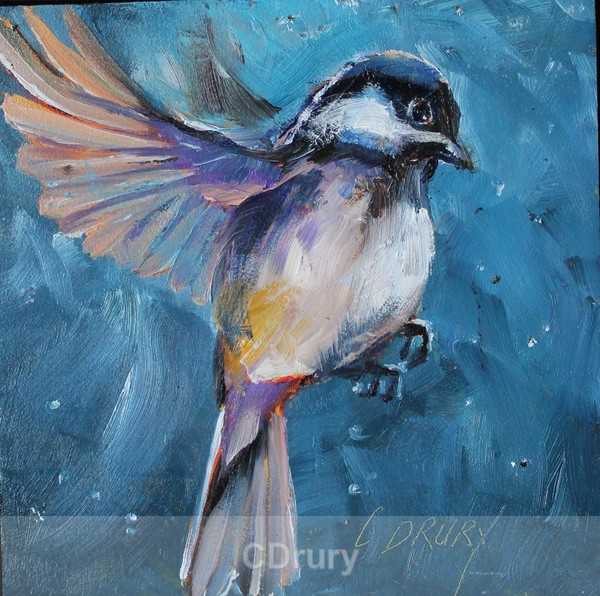 Chickadee SOLD - Colorful Critters