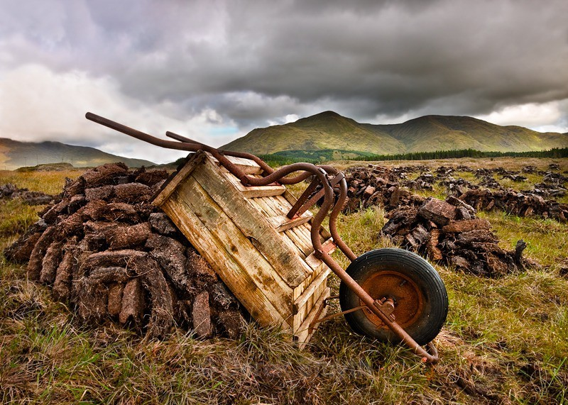 Peat Cutting In Ireland - Irish Turf Cutting