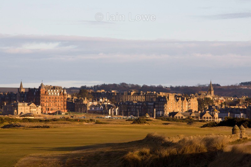 Old Course view from the 14th tee - St Andrews Old Course Hole-by-Hole