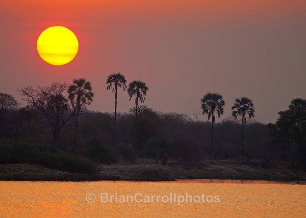 Sunset on the River Zambesi Zambia - African Safari Tour 09 Zambia, Botswana,Namibia & South Africa
