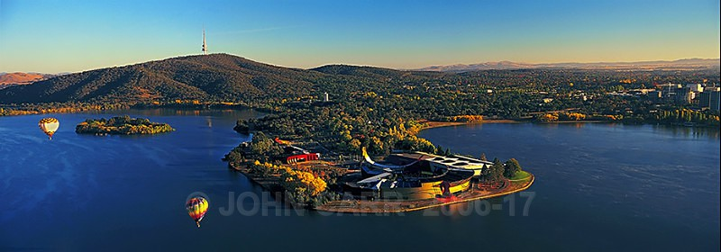AERIAL VIEW OF THE NATIONAL MUSEUM OF AUSTRALIA, CANBERRA 1-107789 - AERIAL PHOTOS