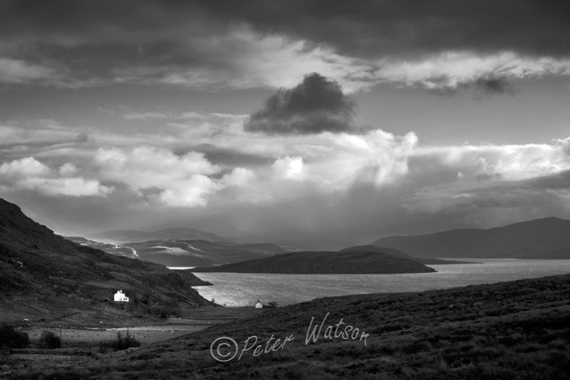 Loch Broom Wester Ross Scotland - Monochrome
