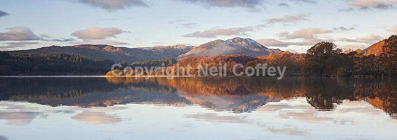Ben Venue across Loch Venachar, The Trossachs - Panoramic format