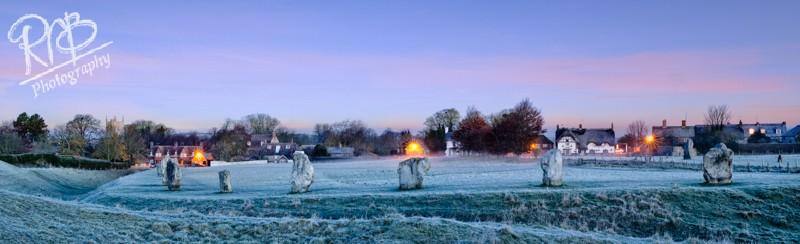 Avebury Winter Panorama - Panoramic Images