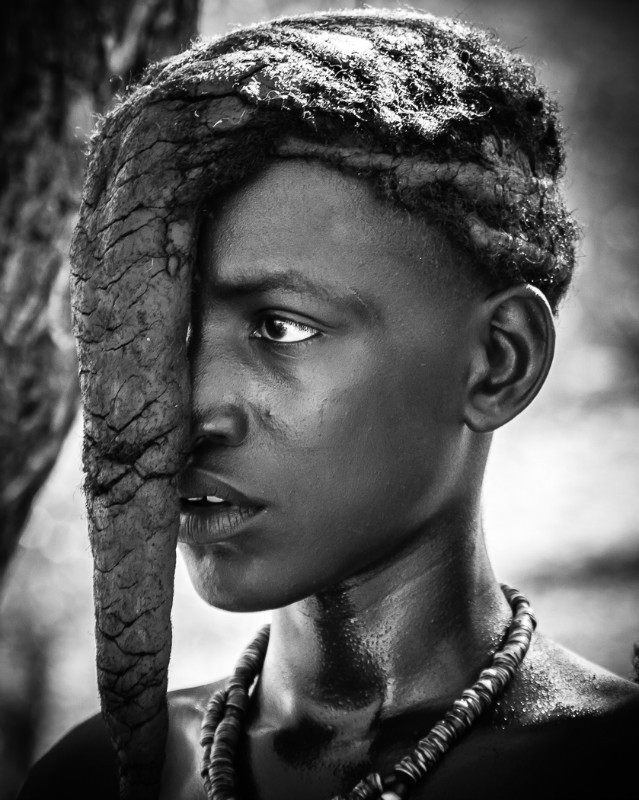 Himba Girl - Monochrome Imagery