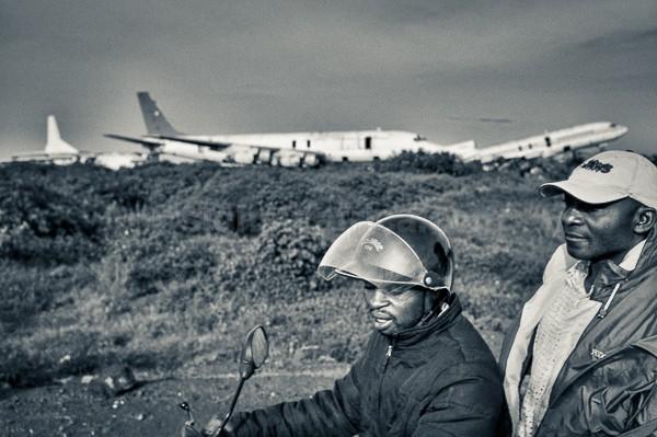 Motorbike, Planes, Goma, DR Congo