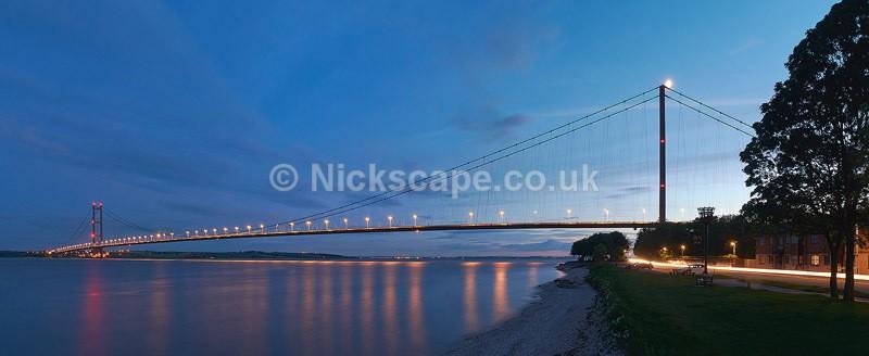 Humber Bridge Panoramic Photograph - Yorkshire