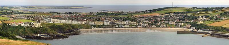 Port Erin bay panorama - Panorama of Man