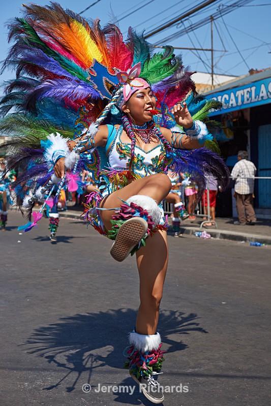 Leader of a Tobas dance group - Carnaval Andino Con La Fuerza Del Sol - Arica