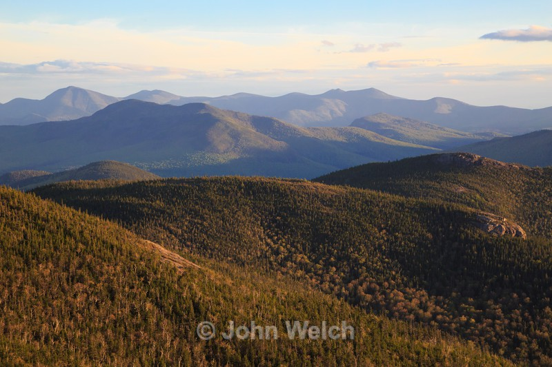 Evening light from Stair Mountain - White Mountain National Forest and Northern New Hampshire