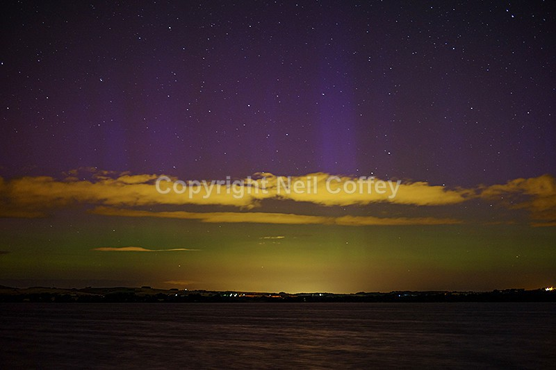 Aurora Borealis from Loch Leven, Fife - Landscape format