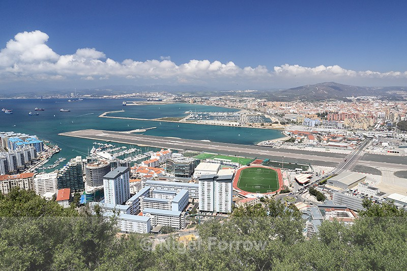 View from the Rock of Gibraltar towards Spain - Gibraltar