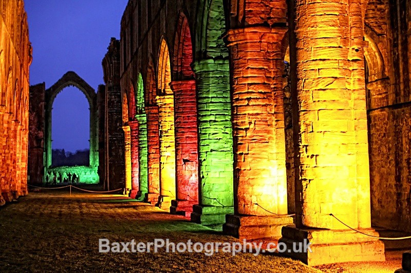 Ruins And Illuminations - Fountains Abbey
