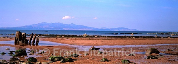 The Island of Arran from the beach at Ardrossan, Ayrshire. - Scottish scenics