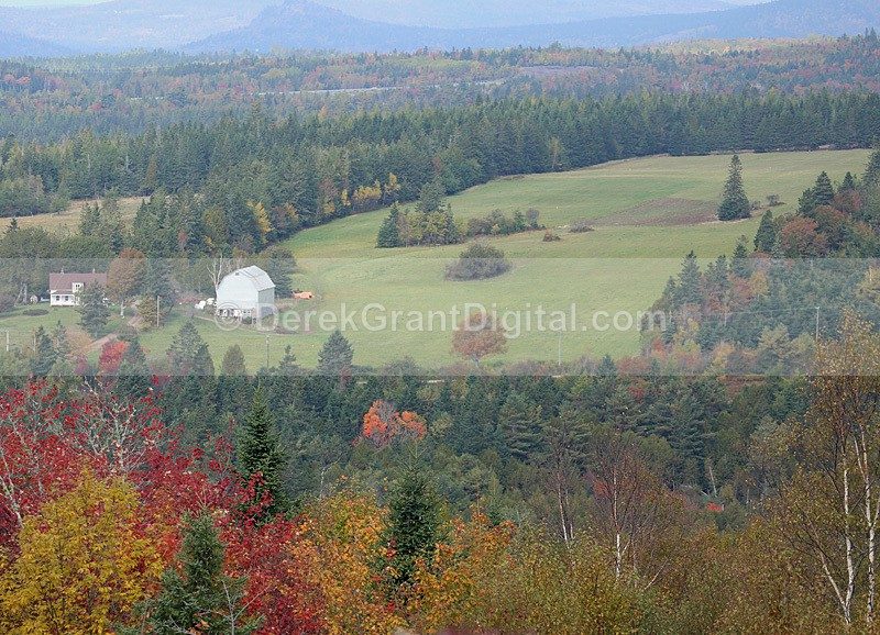 Hammond River Valley - New Brunswick Autumn Foliage - New Brunswick Landscape
