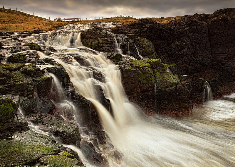 Dunseverick Coastal Waterfall