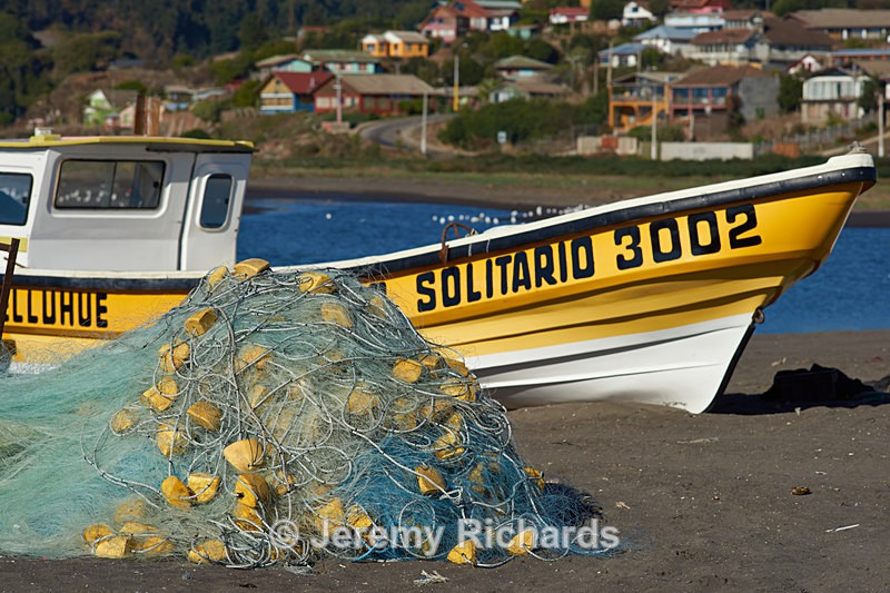 Fishing Boat on the Beach - Coastal Chile