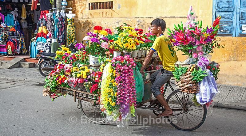 IMG_6193  Flower Vendor Hoi An, Vietnam - Vietnam