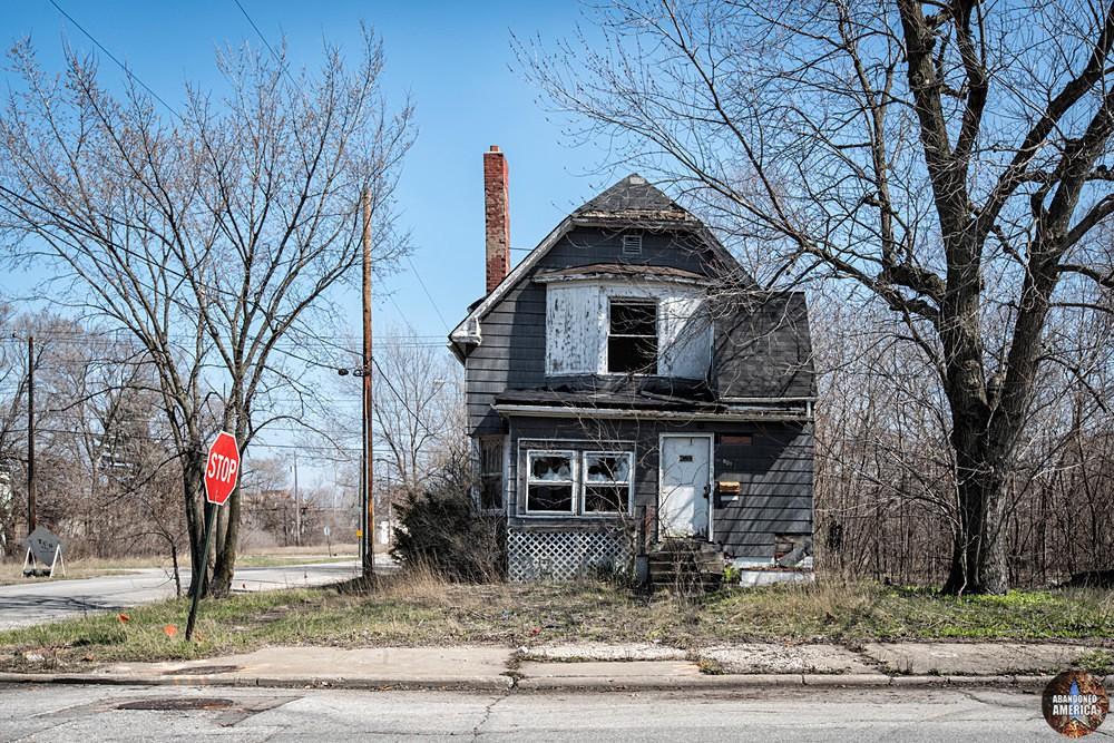 Gary, Indiana | Crooked Abandoned House - Gary, Indiana