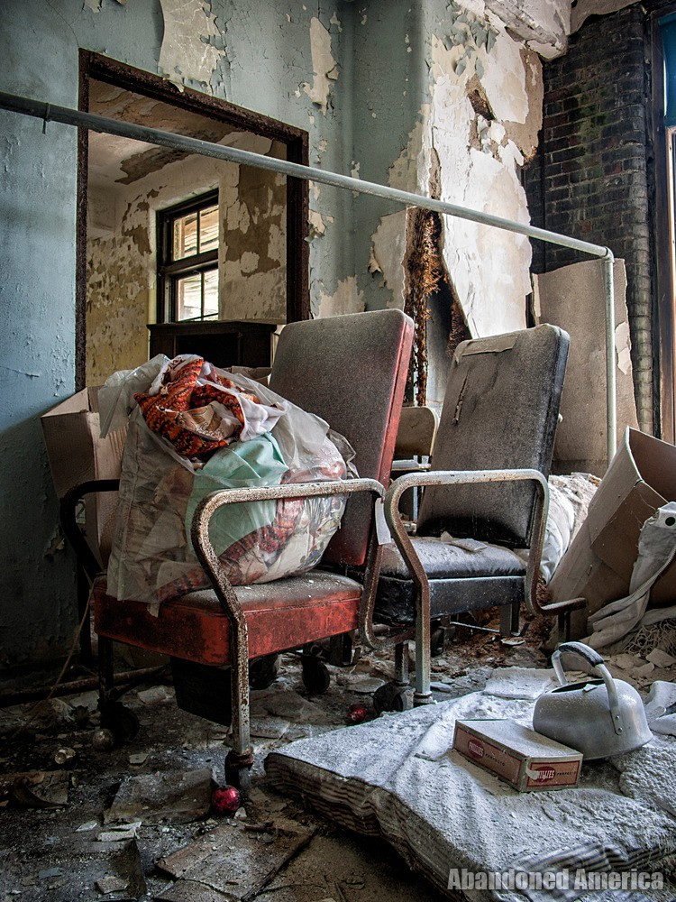Junk on a Chair | Norwich State Hospital