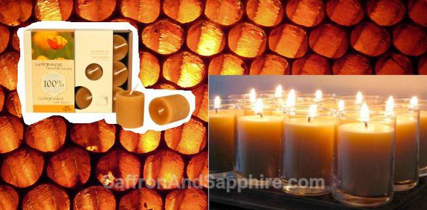 Votive Candles 100% Pure Beeswax