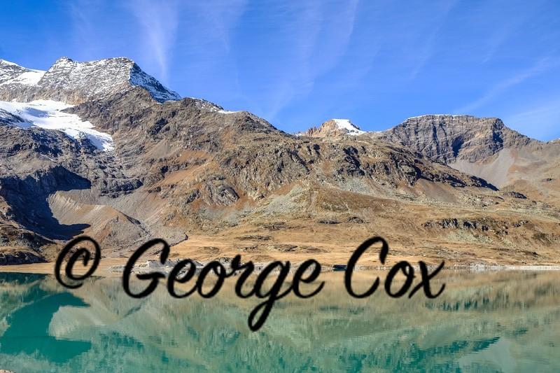 Mountain Lake View - Bernina Express - Switzerland