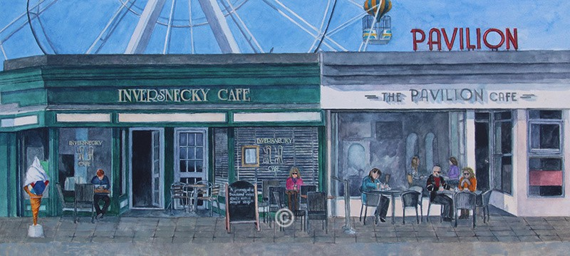 Inversnecky and Pavilion Cafe, Aberdeen Beach. - New Works