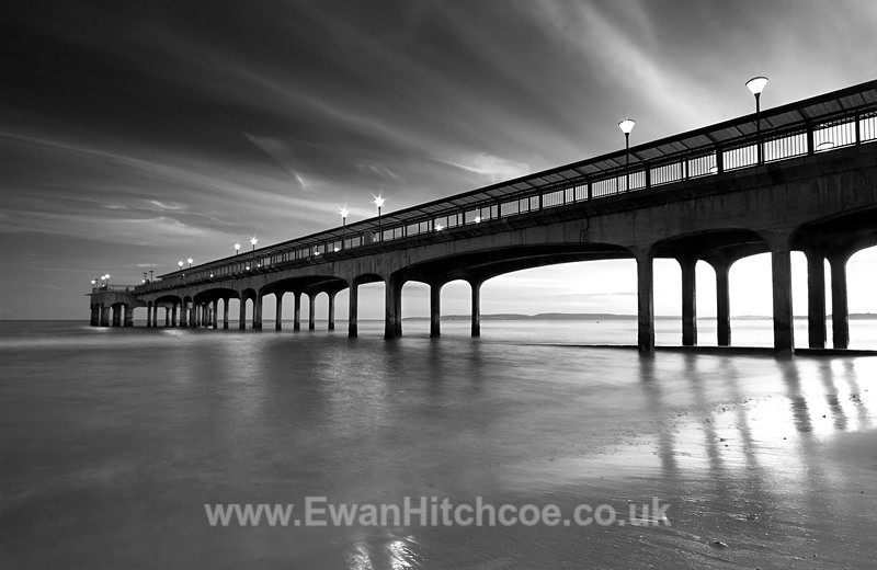 Boscombe Pier BW - Black and White