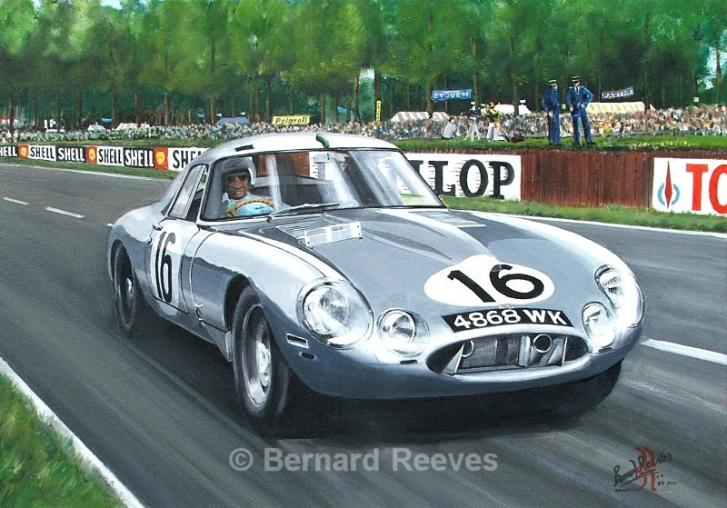 Lightweight E-Type at Le Mans 1964 - Classic cars