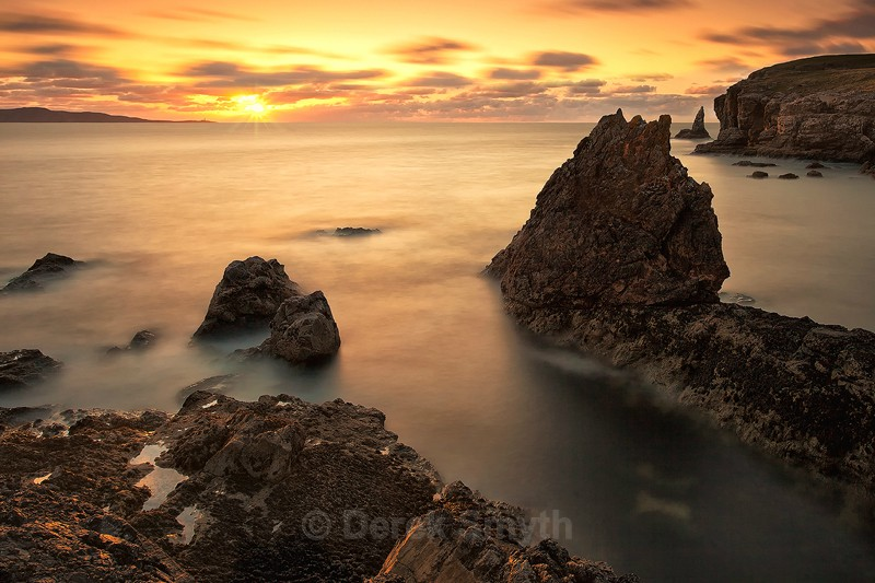 Rocky Shoreline Sunset