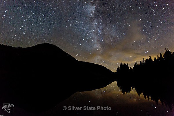 Highland Lake & Milky Way - Night Photography