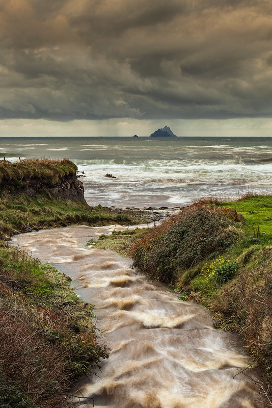 Storm Clouds Over The Skellig Islands - Co. Kerry