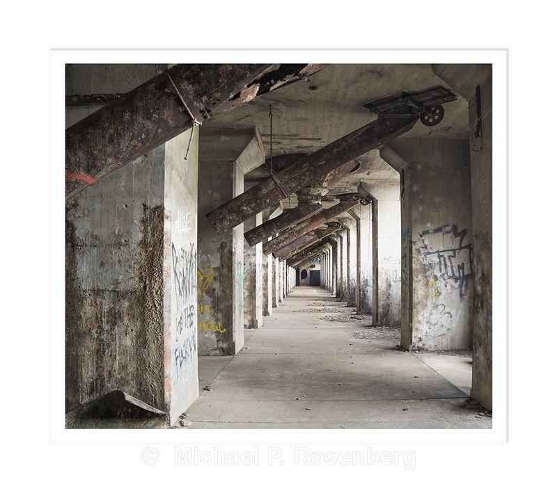 Silo Cone Progression Left, Concrete City, Buffalo NY - Architecture