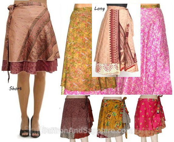 Silk Wrap Skirts