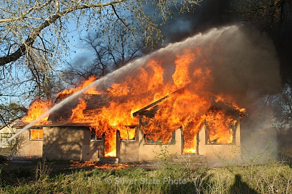 Fully blazing - Fallon/Churchill Fire Department