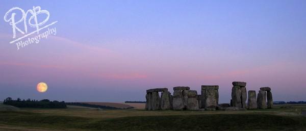 Stonehenge Moonrise - Panoramic Images