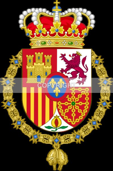 King of Spain - Heritage Family Name and Coat of Arms Store