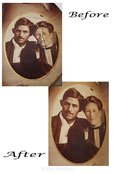 Great-Grandparents Salazar - Restoration - People